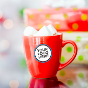 Red mug with logo option