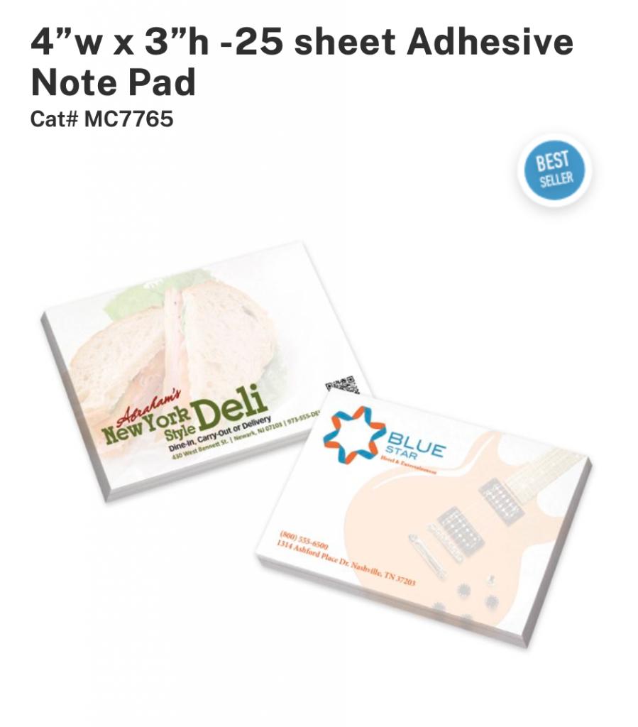 Custom printed Adhesive Note Pads